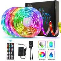 LED Streifen Lichter Lampe 5050 RGB Flexible Band Diode 5M Controller Room Decor TV Computer Hintergrundbeleuchtung Dekoration Weihnachten