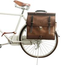 Pannier-Bag Tourbon Bicycle Rear-Seat Coffee Vintage Handbag-City Bike Canvas Retro Premium