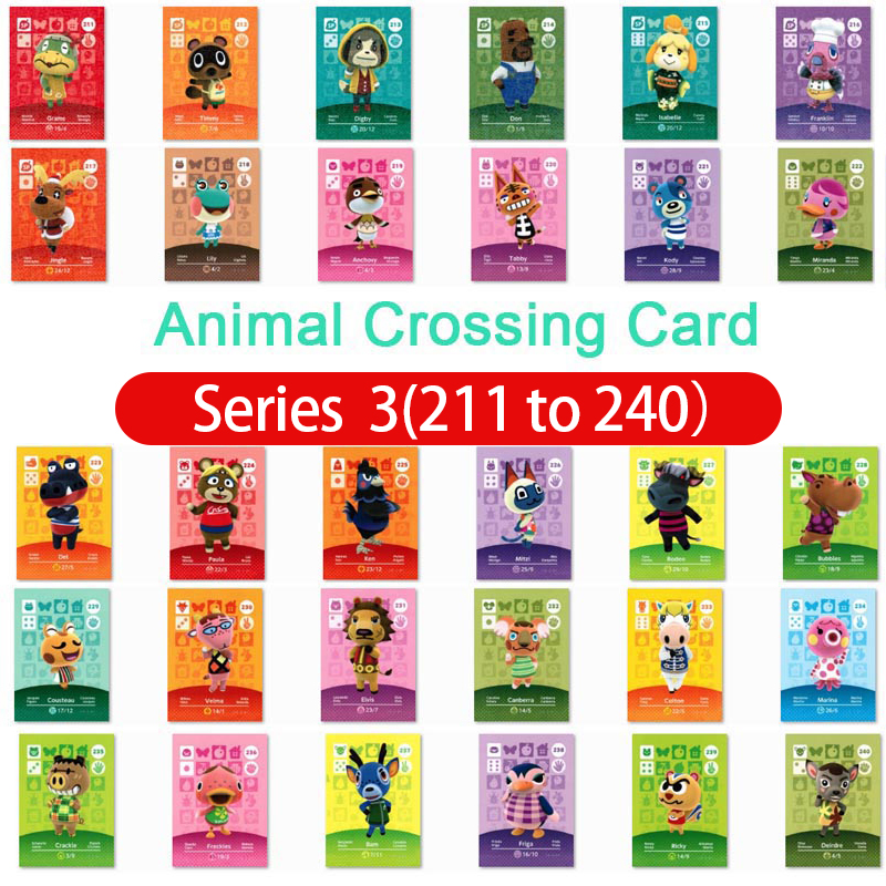 Animal Crossing Amiibo Card Amiibo Card Animal Crossing Series 3 Nfc Card 211 To 240 Work For Ns Games Fast Shipping
