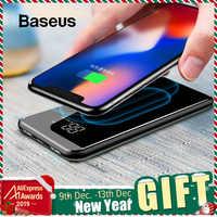 Baseus 8000mAh Caricatore Senza Fili QI Accumulatori e caricabatterie di riserva Per il iPhone Samsung Powerbank Dual USB Caricatore Senza Fili Banca di Batteria Esterna