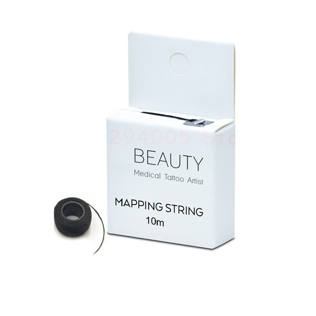 Pre Ink Mapping Thread pigment string for Microblading Eyebrow 10m Tattoo Brows On Point  For Permanent Makeup Position Tools 2