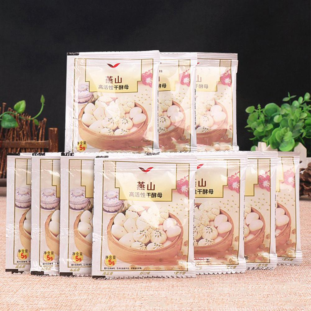 10Pcs Kitchen Baking Agents Bread Yeast Active Dry Yeast High Glucose Tolerance