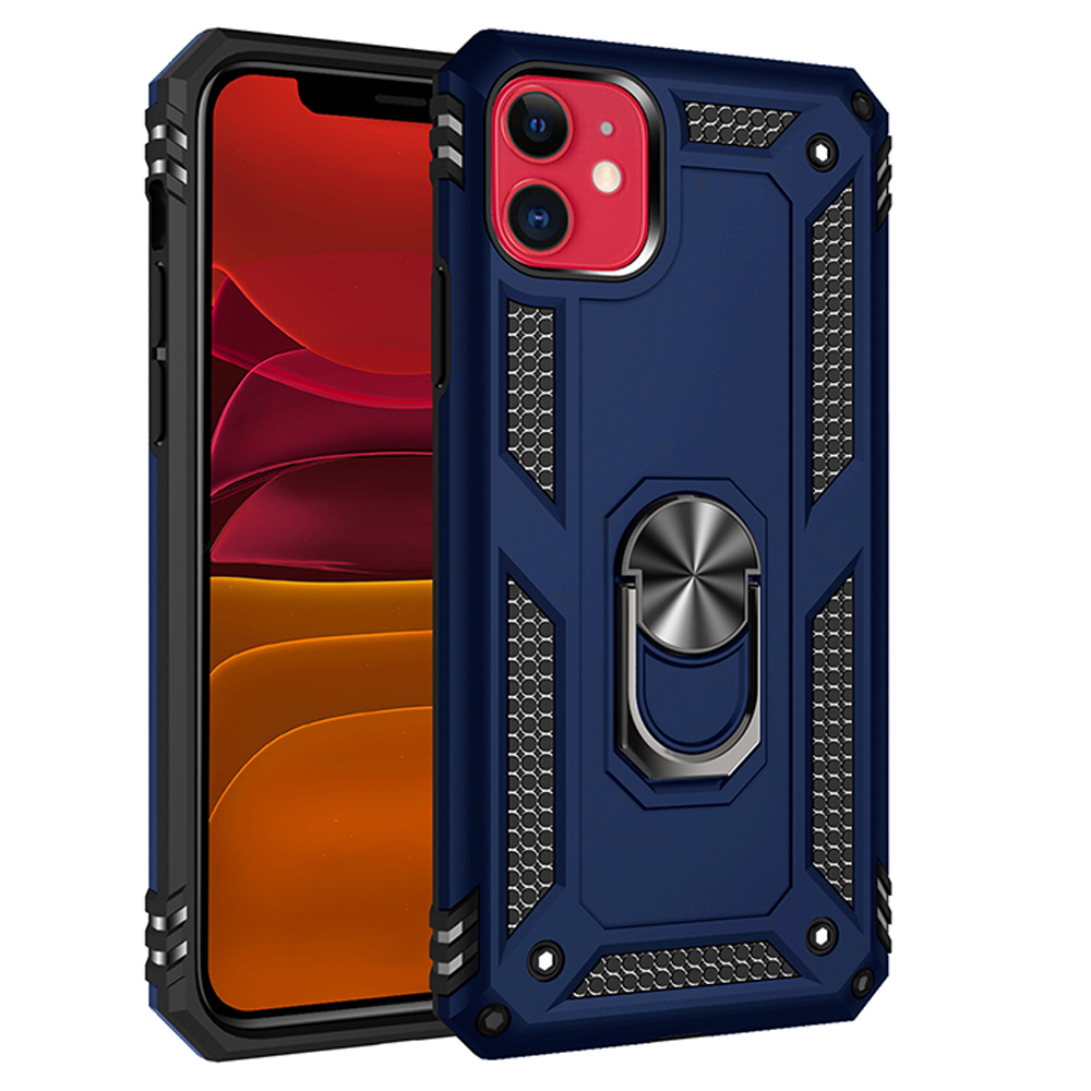 Metal Ring <font><b>Case</b></font> <font><b>For</b></font> <font><b>iPhone</b></font> 11 Pro Max 8 7 Plus 6 6s 5 5S SE 2020 Shockproof <font><b>Armor</b></font> Kickstand <font><b>Case</b></font> <font><b>For</b></font> <font><b>iPhone</b></font> X XS XR Holder Cover image