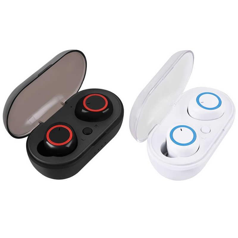 AABB-K18 TWS Bluetooth 5.0 Oortelefoon Draadloze Mini Hoofdtelefoon Bass Headset met Microfoon Telefoon Moblie Oordopjes voor Xiaomi IPhone IOS Een