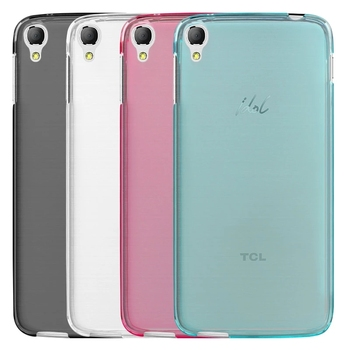 Luxury Transparent Soft TPU Gel Cover Funda Case Skin For Alcatel OneTouch Idol 3 5.5 inches Phone 6045 6045Y 6045K Guard Saver image