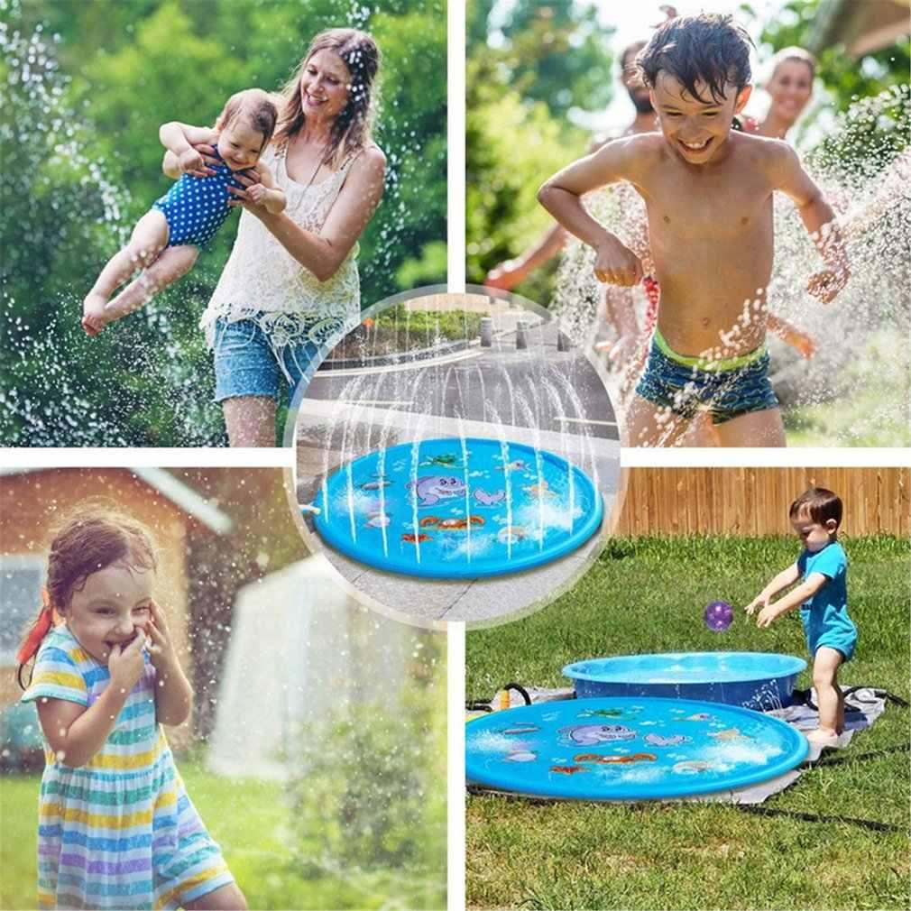 170 Cm Inflatable Spray Air Cushion Musim Panas Anak-anak Bermain Air Tikar Rumput Permainan Pad Vertical Mainan Outdoor Berenang Kolam Renang