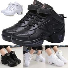 Comfortable Women Fashion Leather Modern Soft Bottom Dance Shoes Jazz A