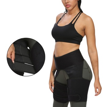1pc Slim Thigh Trimmer Waist Shapers Slender Slimming Belt Sweat Shapewear Toned Muscles Band Thigh Slimmer Wrap  PL