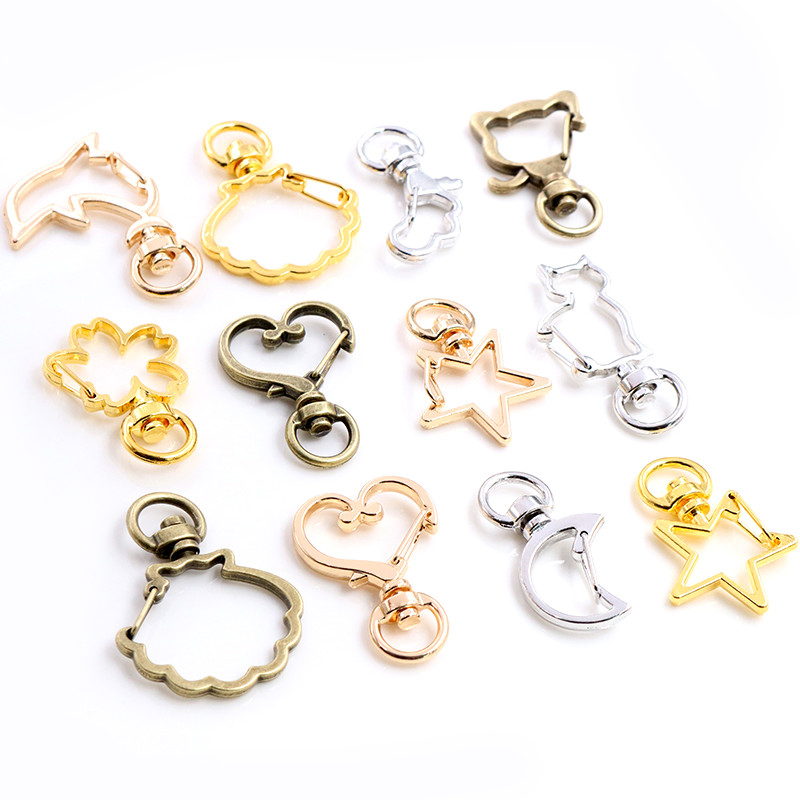 10pcs/lot Snap Hook Trigger Clips Buckles For Keychain Lobster Lobster Clasp Hooks For Necklace Key Ring ClaspDIY Making