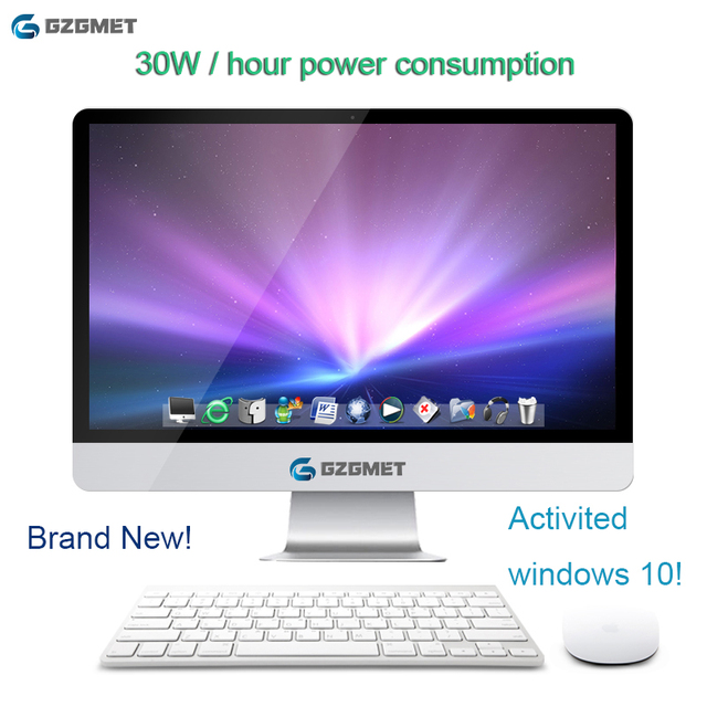 21.5 Inch Intel Windows 10 Computer All In One Pc  I7 I3 Core Wifi Desktop Pc office desktop with Keyboard Mouse