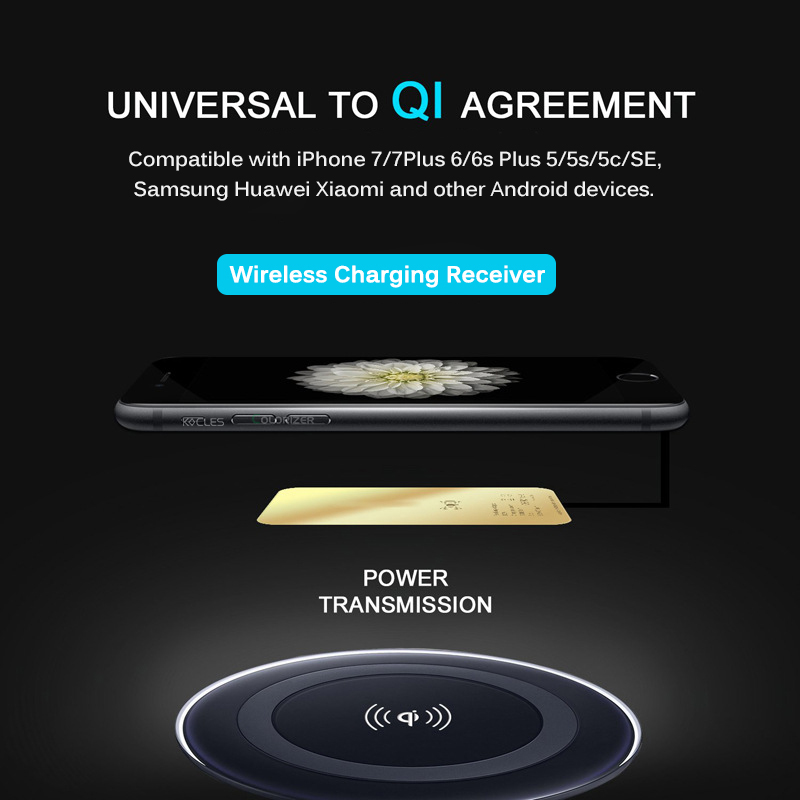 Universal 10W Fast Wireless Charger Pad For iPhone Samsung Huawei Xiaomi Qi Wireless Charging Receiver For Micro USB Smart Phone Pakistan