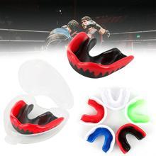 Protector bucal de silicona suave EVA para adultos Protector bucal para deporte boxeo fútbol baloncesto Hockey Karate Muay Thai 7