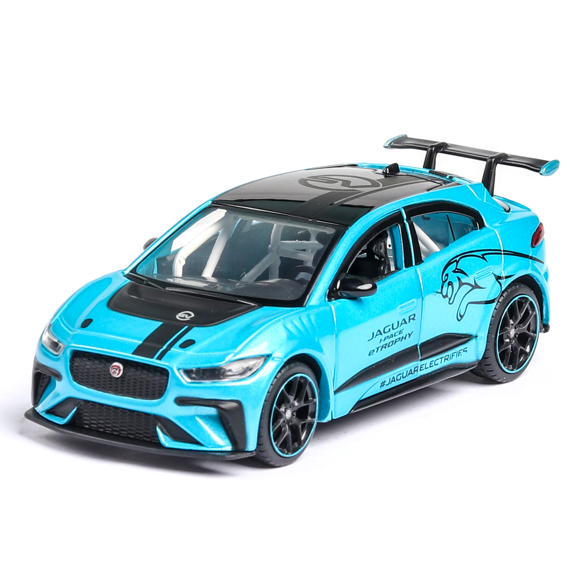 New 1:36 JAGUAR I-PACE Diecast Toy Vehicles Pull Back Car Sports Model Car Super Racing Lifting Tail Hot Wheel For Children Toy
