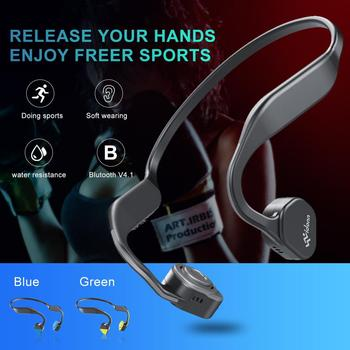 Titanium Bone Conduction Headphones Wireless Bluetooth Earphone Outdoor Sports Headset IP55 Waterproof with mic Hands-free