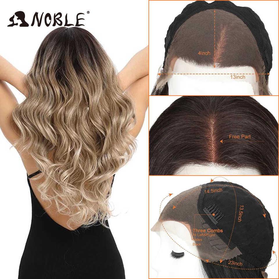 Благородные волосы кружева спереди омбре блонд парик 30 дюймов кружева длинные волнистые 360 парик красные африканские американские синтетические парики для черных женщин