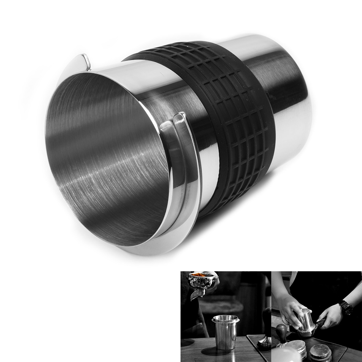 1pc Silver Stainless Steel Coffee Powder Precision Dosing Cup For EK43 Grinder Durable Cups Home Kitchen Supplies