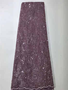 Wholesale Price High Quality purple Sequins Lace Fabric Embroidery Tulle Lace Trim Party Dress For African Lace Fabric FZX316