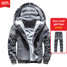 Windproof Jacket Bomber-Coats Outwear Chaqueta-De-Los Mens Fashion Camouflage Thick Male