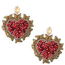 Zouchunfu Oorbellen Handmade Cartoon Heart Earrings for Women Aretes Fashion Earrings Crystal Big Drop Earrings artificial crystal floral hollowed heart drop earrings