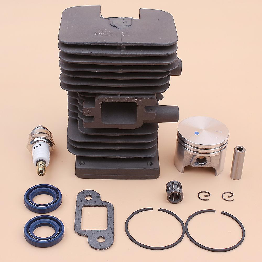 37mm Cylinder Piston Kit For Stihl MS170 017 MS 170 Muffler Gasket Oil Seal Bearing Spark Plug Chainsaw 1130 020 1204