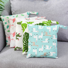 27cm x 30cm Portable Baby Diaper Organizer Canvas Bag Reusable Mummy Storage Bag Bag