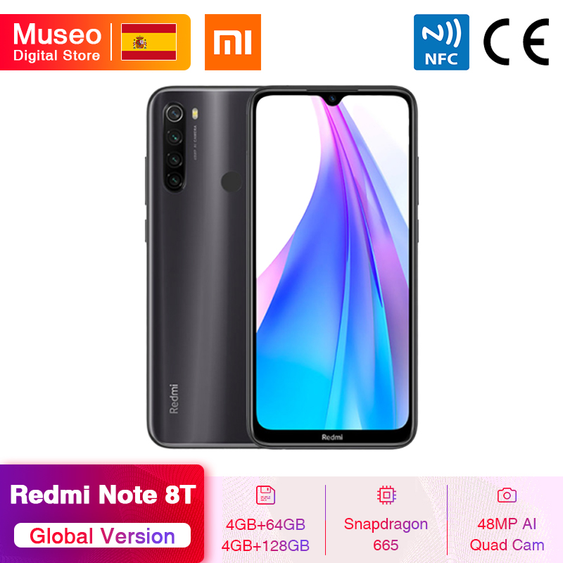<font><b>Global</b></font> Version <font><b>Xiaomi</b></font> <font><b>Redmi</b></font> <font><b>Note</b></font> 8T <font><b>8</b></font> T <font><b>64GB</b></font> / 128GB Snapdragon 665 Octa Core 6.3'' 48MP Quad Camera 4000mAh 18W QC NFC image