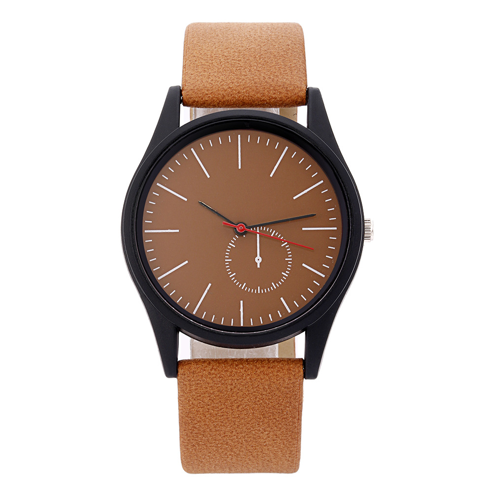 Simple Casual Unisex Belt Watch Students Exam Watch Foreign Trade Non-Logo Quartz Watch Wholesale