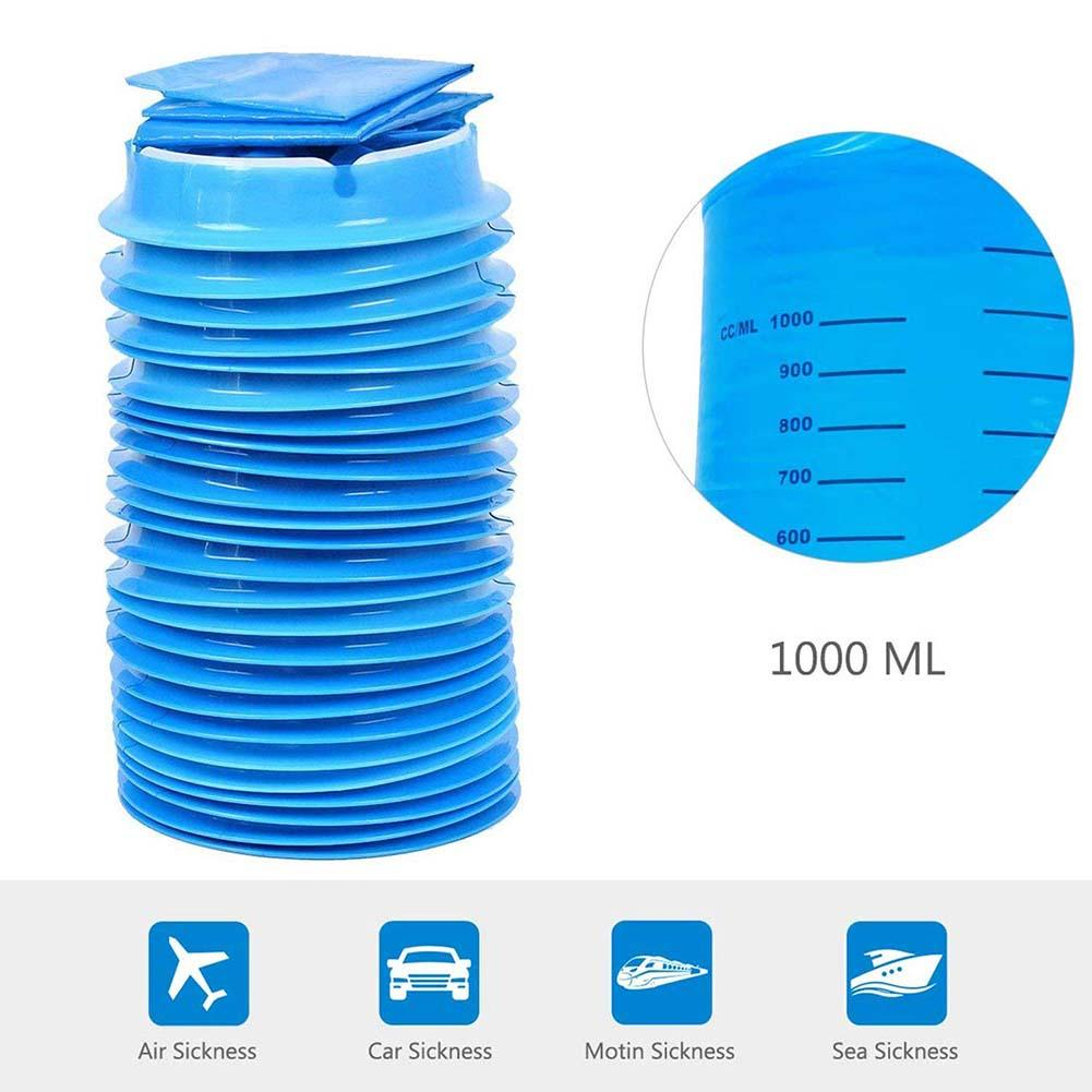 10Pcs 1000ML Disposable Travel Car Airplane Motion Sickness Nausea Vomit Cleaning Bag New