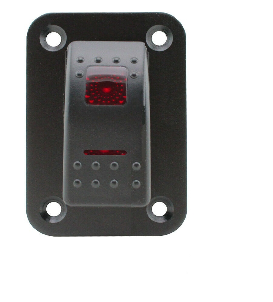 Auto Schalter Panel 12-24V 5 Gang Round Dash Rocker Kippschalter Panel Blaue LED f/ür RV Boat Yacht Marine