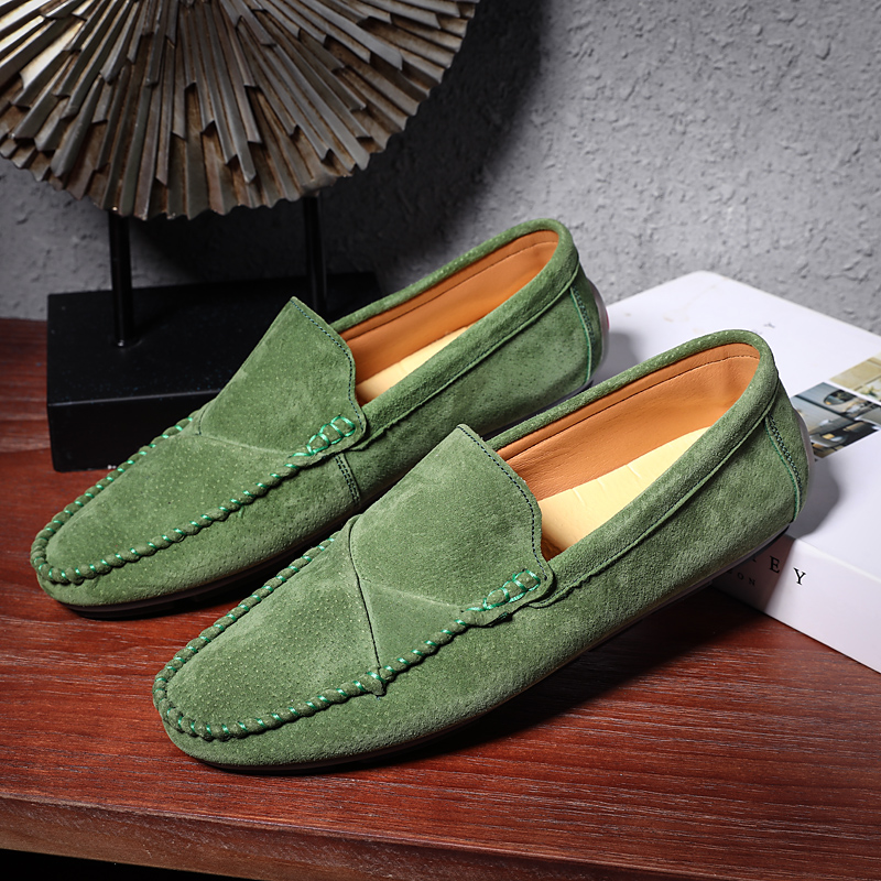 Coslony Genuine Leather Loafers Men Shoes Men's Loafers For Men Casual Shoes Slip On Moccasins Men Flats Footwear Plus Size 48