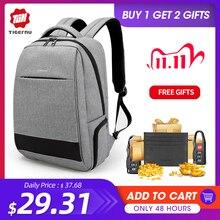 Tigernu bolsa de viagem impermeável para laptop, feminina, antirroubo carregador usb 15.6