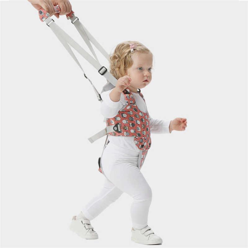 Cartoon Print Baby Walker Harness Walking Assistant Uil Patterntoddler Multi-Functionele Walk Leren Riem Verwijderbare Kruis
