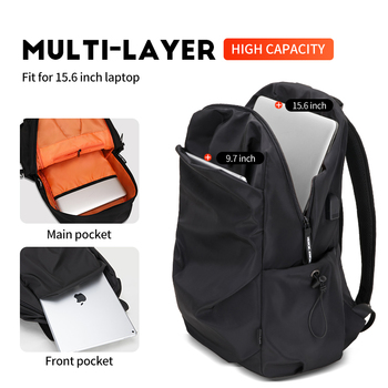 Heroic Knight Men Fashion Backpack 15.6inch Laptop Backpack   4