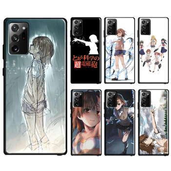 Cute Misaka Mikoto Case For Samsung Galaxy Note 20 Ultra Note 10 Plus S8 S9 S20 Plus S10 Lite S10e Coque image