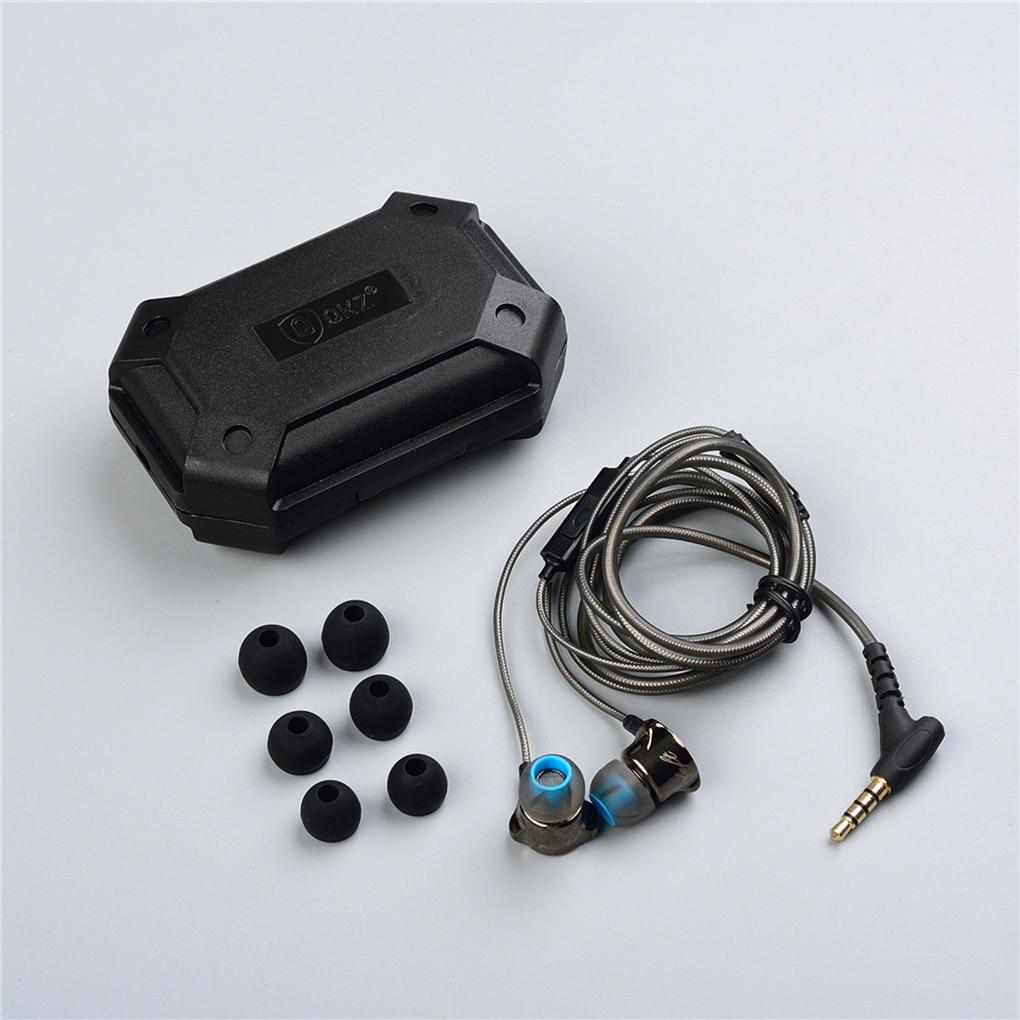 QKZ DM7 Earphone Metal Stereo Noise Isolating In-ear Headset Built-in Mic HiFi Heavy Bass 3.5mm Earbuds