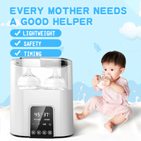 6 in 1 Universal Baby Feeding Bottle Warmer Heater Bottle Sterilizer BabyFood Warm 110 220V Electric Milk Food Warmer With Timer