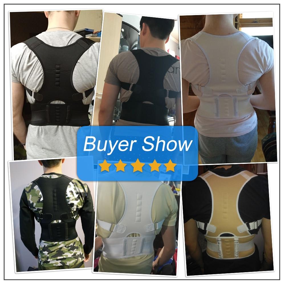 Aptoco Magnetic Therapy Posture Corrector Brace Shoulder Back Support Belt for Men Women Braces & Supports Belt Shoulder Posture 4