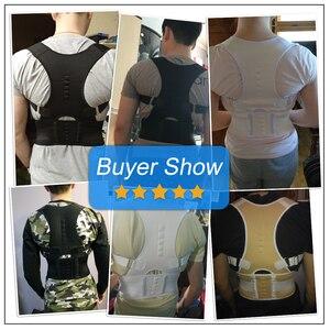 Image 5 - Aptoco Magnetic Therapy Posture Corrector Brace Shoulder Back Support Belt for Men Women Braces & Supports Belt Shoulder Posture
