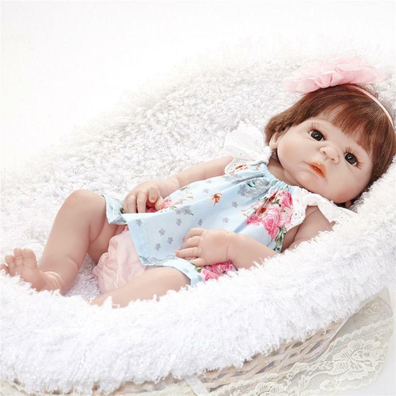 23/'/' Full Vinyl Silicone Reborn Baby Dolls Kit Lifelike Doll Kit Girl Handmade