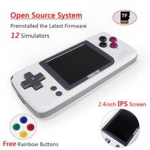 Игровая приставка для видео-PocketGO-портативные ретро-игровые проигрыватели, сохраняющие/загружающие карты MicroSD, внешний красочный экран