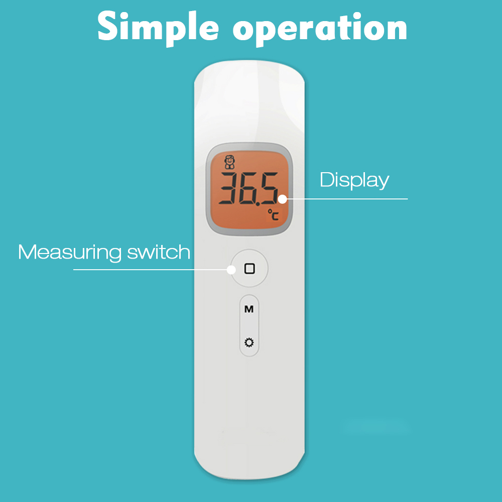 CN US Stock Non-contact Infrared IR temperature infrared temperature meter Digital temperature gun LCD Display termometro