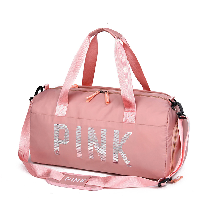 2019 Sequins Black Gym Bag Women Shoe Compartment Waterproof Sport Bags for Fitness Training Yoga sac de sport