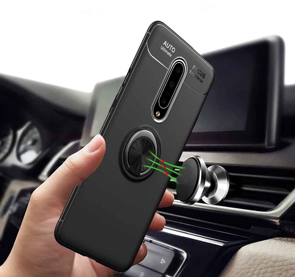 For <font><b>Oneplus</b></font> Nord 8 7T 7 Pro <font><b>6</b></font> 6T Cover All-inclusive Soft Silicon <font><b>Magnet</b></font> Finger Ring Car Holder Backet <font><b>Case</b></font> Shockproof Shell image