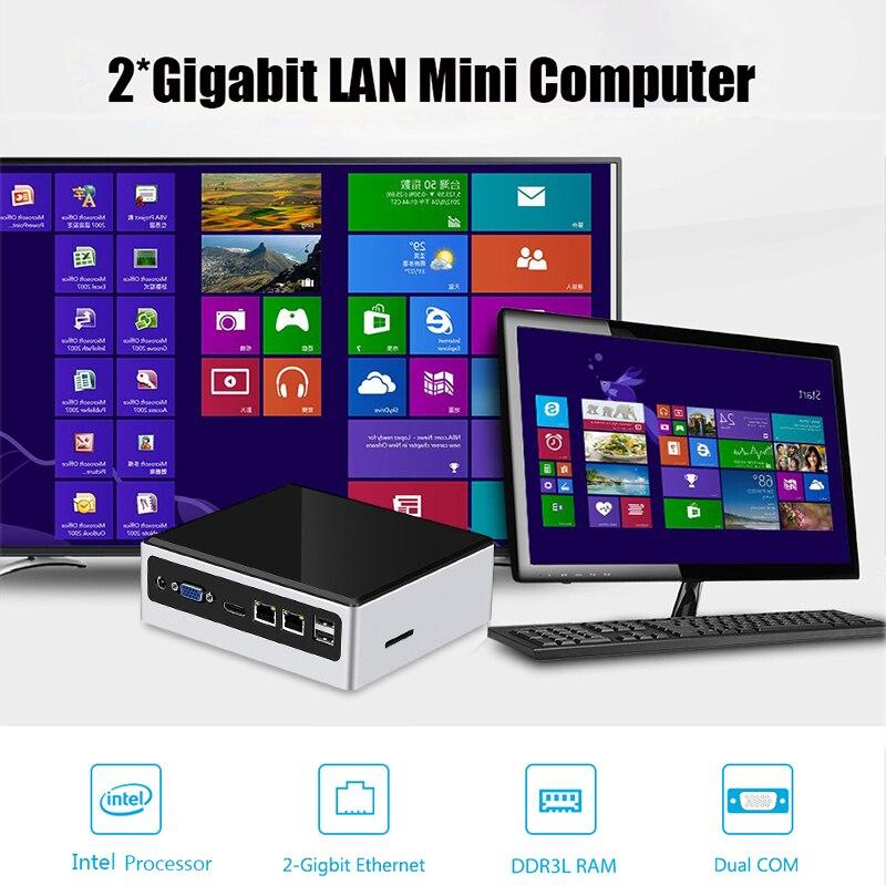 Mini Pc Intel Core i5 4200U Linux Thin Client Micro Computer Beste Industrielle Komputer Win 10 7 ddr 3 Minipc 2 Lan 2 * RS232 Port