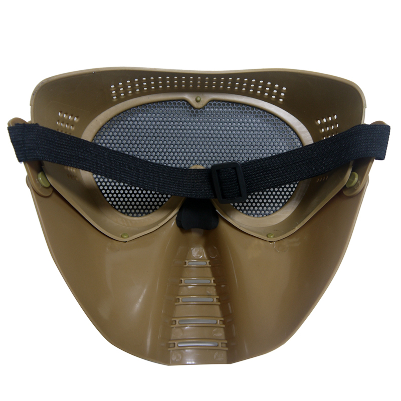Polyester Mesh Protective Airsoft Paintball Outdoor Sport Full Face Mask 3 Color