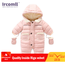 Ircomll Winter Infant Baby Girl Boy Romper Autumn Jumpsuit Hooded Inside Fleece Toddle Winter Autumn Overalls Children Outerwear hh baby winter clothes girl romper warm jumpsuit baby overalls long sleeve hooded outerwear snowsuit baby boy winter overalls