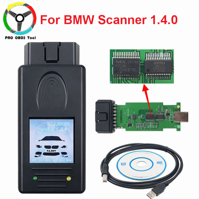 New For BMW SCANNER 1.4.0 Diagnostic Scanner OBD2 Code Reader For BMW 1.4 USB Auto Diagnostic Tool