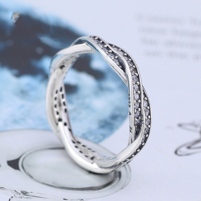 Free Shipping Real 925 Sterling Silver Fashion Forever Love Ring For Women Wedding Engagement Anniversary Gift Fashion Jewelry