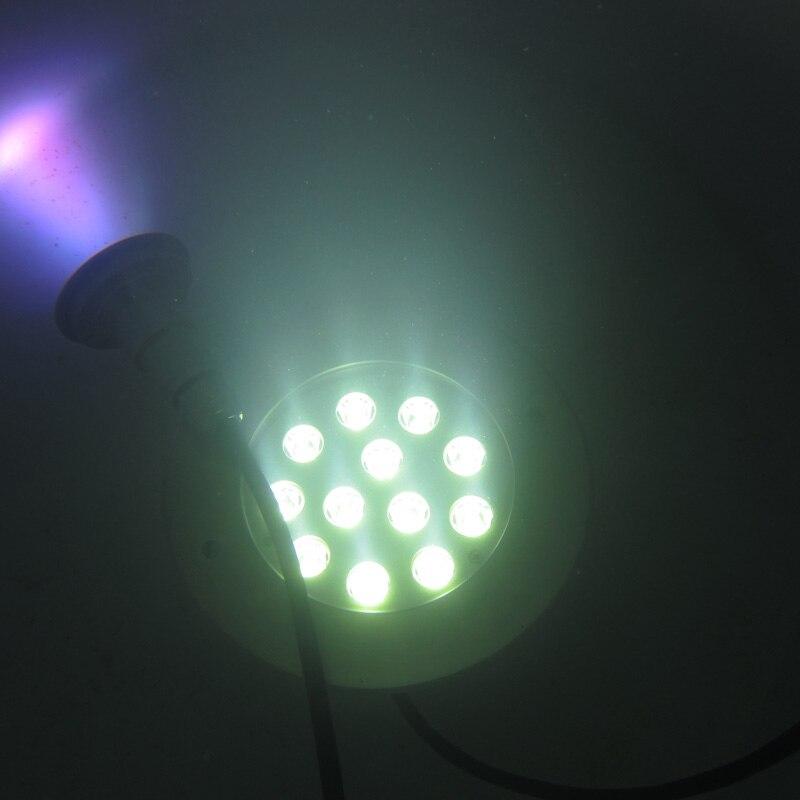 12x1W Submersible pompe à eau fontaine piscine lampe fontaine piscine lumières LED piscine lumières fête étang poisson Festival