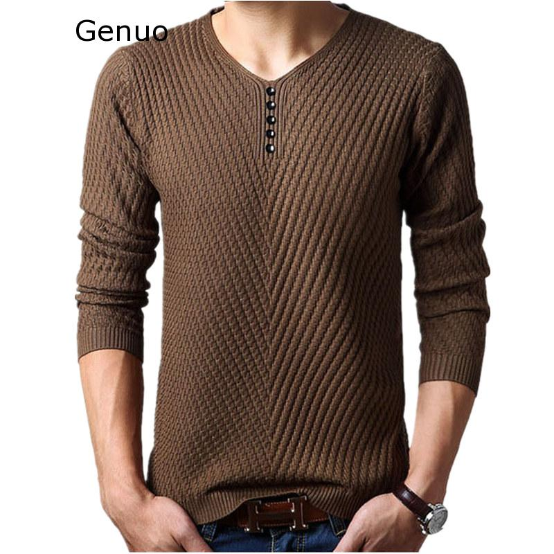 M-4XL Winter Henley Neck Sweater Men Cashmere Pullover Christmas Sweater Mens Knitted Sweaters Pull Homme Jersey Hombre 2019